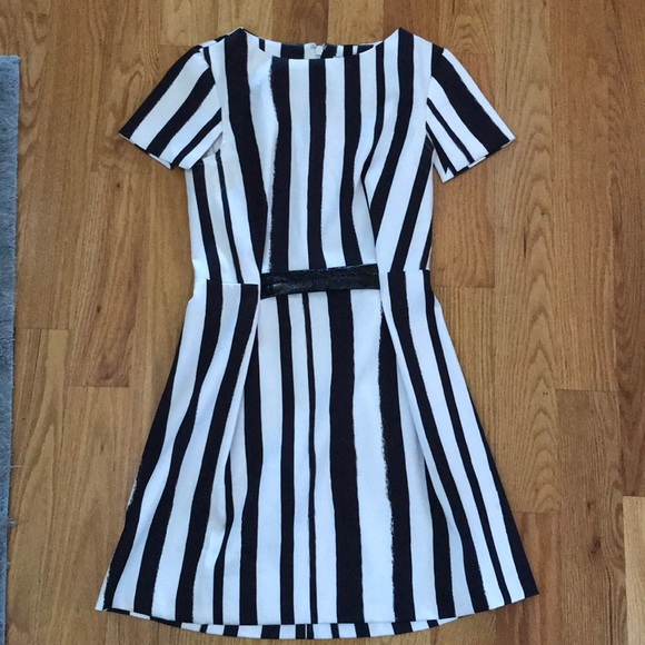 Topshop Dresses & Skirts - Topshop vertical striped dress sz 4 black white